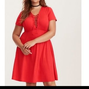 Torrid red skater dress